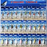 NEW 30x New PACKAGE Assorted Metal SpinnerBaits Fishing Spoon Lures Salmon Bass