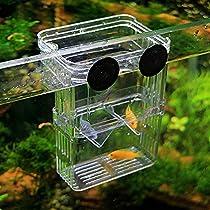 Aquatic Fish Breeding Tank Incubator, Aquarium Hatchery Box for Baby Fish (Small, 4.3