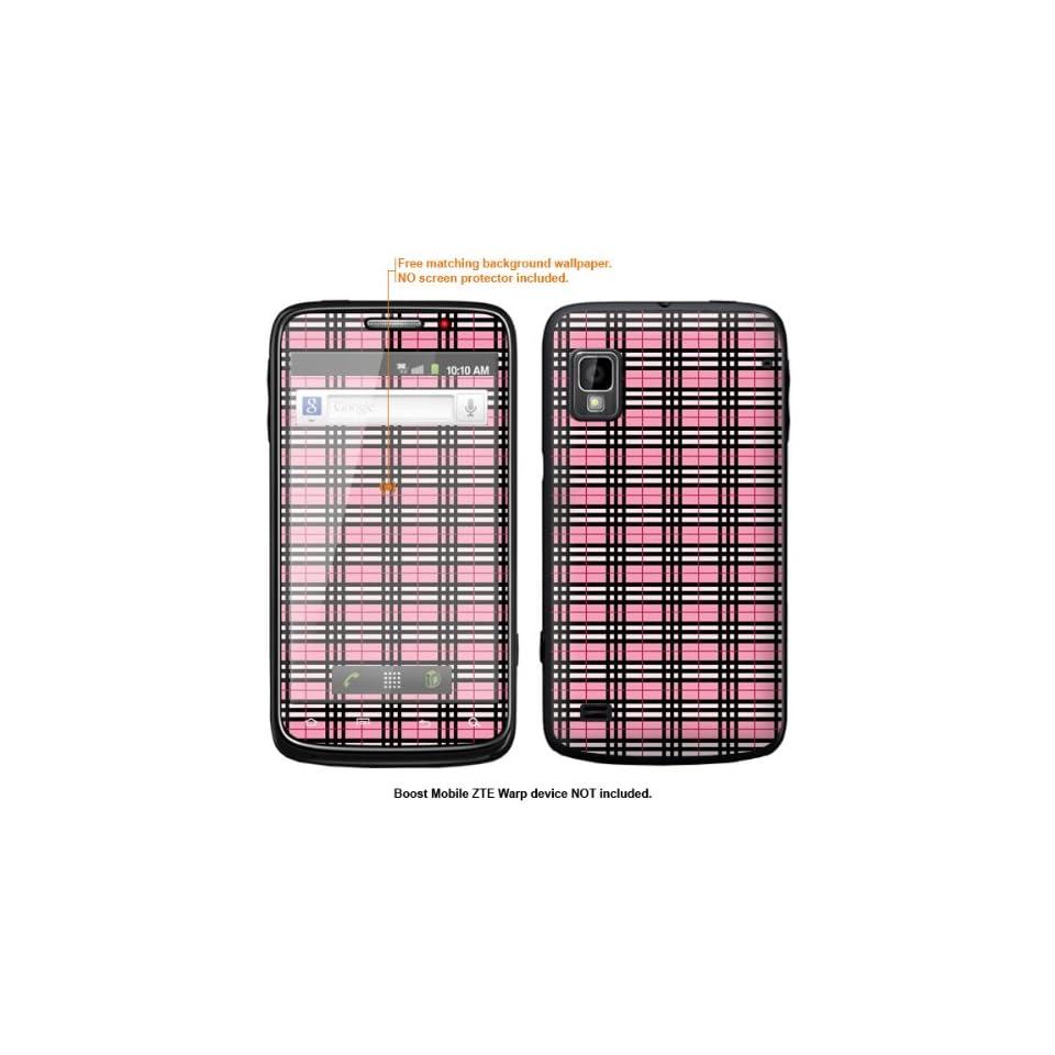 Protective Decal Skin Sticker for ZTE Warp  Boost Mobile version  case cover ZTEwarp 624