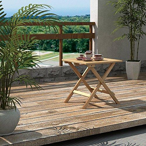Songmics beistelltisch klapptisch aus bambus f r balkon for Beistelltisch balkon