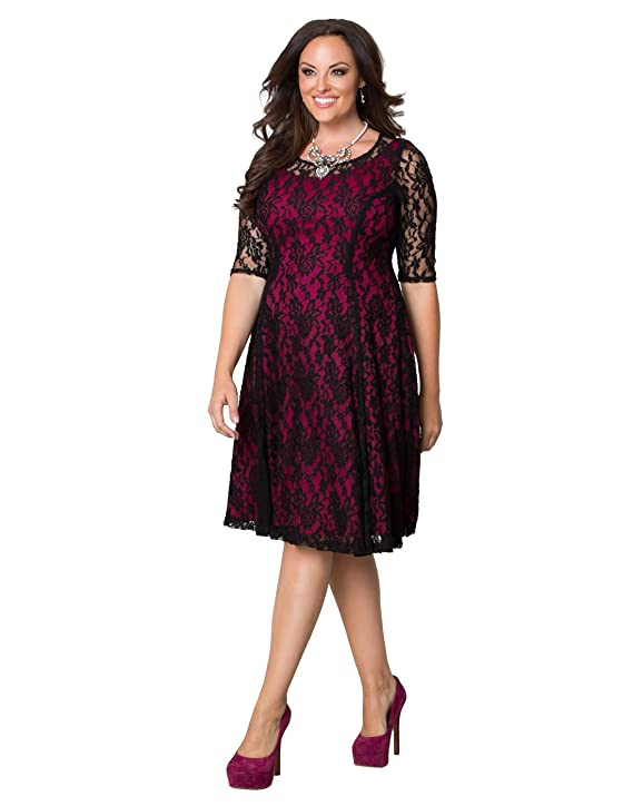 Kiyonna Women's Plus Size Sweet Leah Lace Dress