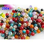 250 Round Multicolor Crackle Crystal...