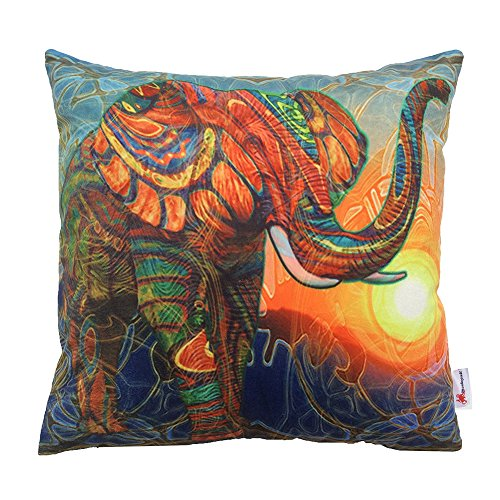 Monkeysell The new square Europe and the United States abstract Elephant patterns Digital printing pillowcase/pillow cover 18 x 18 inch (S029A1) (Giraffe Quilt Fabric compare prices)