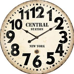 Horloge murale design new york central station nostalgie - Horloge murale new york ...