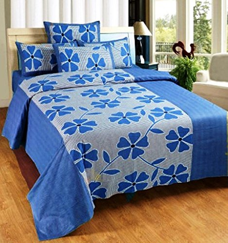Super-India-100-Cotton-Floral-Double-Bed-Sheet-with-two-pillow-covers