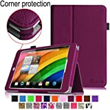 [CORNER PROTECTION] Fintie Acer Iconia A1-830 Case - Premium Vegan Leather Slim Fit Stand Cover for Acer Iconia A1-830 7.9 -Inch Tablet - Purple