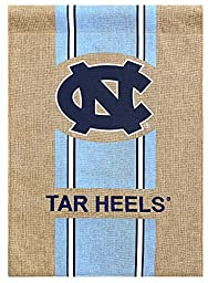 North Carolina Tar Heels Official NCAA 12.5 inch x 18 inch Team Burlap Garden Flag