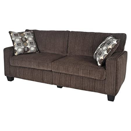Serta San Paolo Mink Brown Fabric Deluxe Sofa