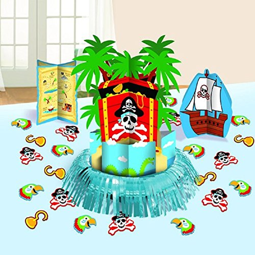 Amscan Pirate's Treasure Table Decorating Kit 23 Pc. - 1