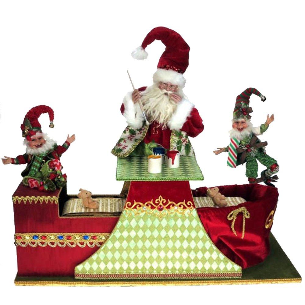 Mark Roberts Santas Animated Toymaker Santa 34x25.5 in