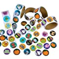 Rhode Island Novelty Assorted Halloween Stickers, Pack of 500