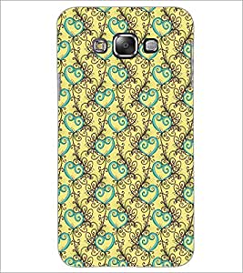 PrintDhaba Pattern D-5328 Back Case Cover for SAMSUNG GALAXY E7 (Multi-Coloured)