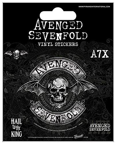 Avenged Sevenfold Deathbat Set di adesivi standard