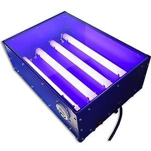 60W 110V 18 x 12 Small Screen Printing Exposure Unit Silk Screen Printing Plate Developing Machine UV Light Plate hot Stamp 4632cm USA Stock (Tamaño: 8.00*41.00*24.00cm)