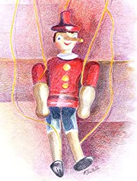 Pinocchio, Archival Print of Colored Pencil Drawing, 10 X 13 Inches