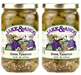 Jake & Amos - Pickled Green Tomatoes / 2 - 16 Oz. Jars