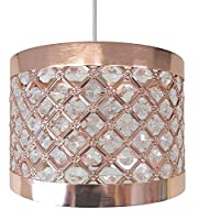 Easy Fit Moda Sparkly Ceiling Pendant Light Shade Fitting Modern Decoration - Bronze Copper Colour from Beamfeature Ltd