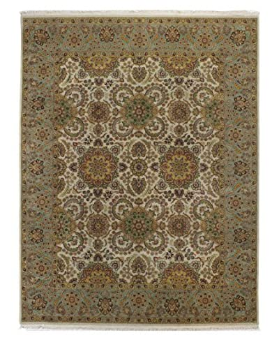 Bashian Hand Knotted Sultanpur Rug, Ivory, 8' x 10' 3