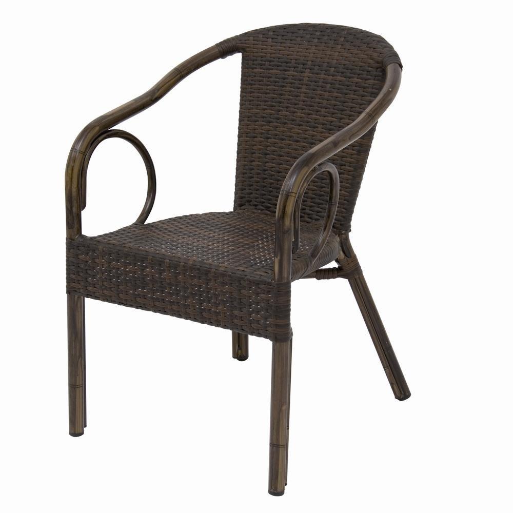 Siena Garden 175643 Stapelsessel Kenora Aluminium-Gestell Bambusoptik Gardino®-Geflecht bi-color mocca lederlook jetzt kaufen