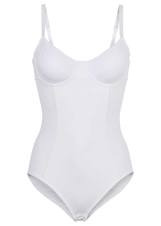 Damen Bügel Body EU 95 B cup Weiß Hacken Baumwollzwickel günstig online kaufen