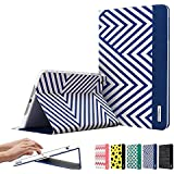 ESR iPad Mini Case, iPad Mini 3 Case, iPad Mini 2 Case, Smart Cover [Multi-Stand View Angles ] [Auto Wake/Sleep Function] with Yellow and Black Polka Dots Folio Case for iPad mini/Retina/3 Case Beat Series (Electric Blues)