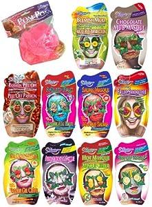 Montagne Jeunesse Bath and Shower 10 Face Masque Sachets Gift Set with Pom Pom
