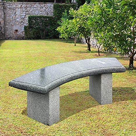 Jardin Rêve Granit Banque pour le jardin–ALMADA 45x40x120cm (HxBxT) gris