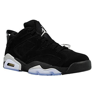 Nike Air Jordan Retro 6 Low Chrome Mens Black/Metallic Silver/White 304401-