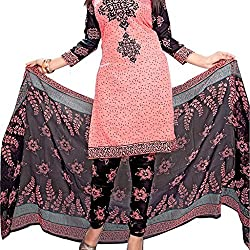 Shree Hari Creation Women's Poly Cotton Unstitched Dress Material (3837_Multi-Coloured_Free Size)