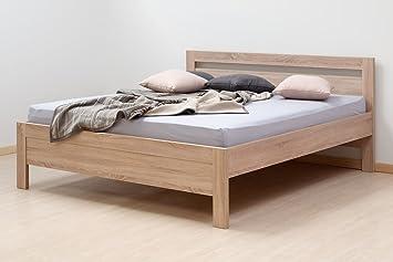LTD Betten Kristine komplett + Matratze + Lamellenrost, Holzbetten
