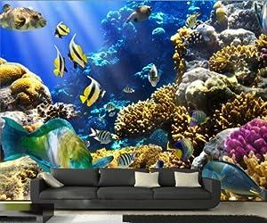 kleister fototapete unterwasser 400x280cm nr kt11 fische meer tapete k che haushalt. Black Bedroom Furniture Sets. Home Design Ideas