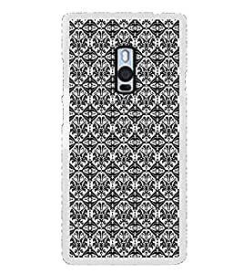 ifasho Animated Pattern design black and white flower in royal style Back Case Cover for OnePlus 2