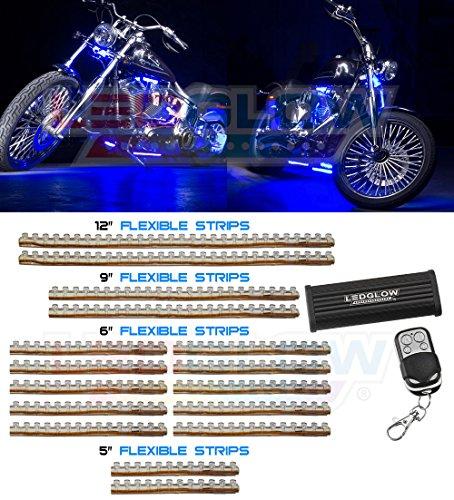 16 Piece 282 Led Blue Motorcycle Lighting Kit