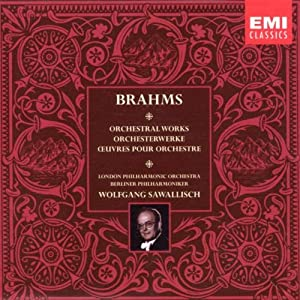 Brahms Orchestral Works from EMI Classics