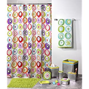 All That Jazz Retro 60'S Starburst Shower Curtain Fabr