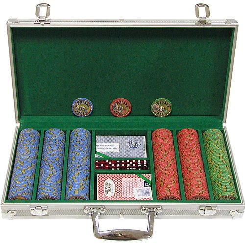 Trademark Poker 300 Chip Nevada Jacks 10g Set with Aluminum Case (Silver)