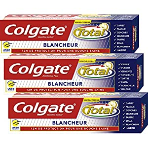 Colgate - Total Blancheur Dentifrice - 75 ml - Lot de 3