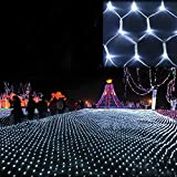 GBB 110V LED Mesh Net String Party Lights For Christmas and Halloween Wedding decoration. 8 different modes (White 6m x 4m 19.6ft x 13.1ft) Xmas Sale ! Shop now for best price of season!!!