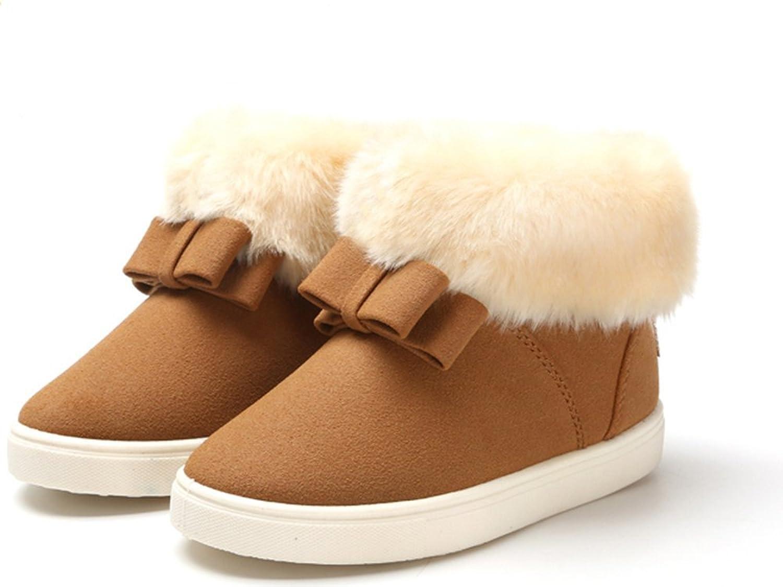 schöne Bow Princess Mädchen Schneeschuhe Winter warm Anti-Rutsch snow boots/Schneestiefel Kinder-Schneeschuhe Jungen Stiefel Mädchenbaumwollstiefel Kinder warmen Baumwollstiefel Fashion Kinder Schuhe