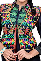 TIA's Women's Kutch embroidered Shrug/Navratri special Gujarati koti / Short jacket