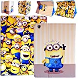 Despicable Me Minion Premium Leather Wallet Stand Holder Folio Folding Case Cover For Apple iPad Mini With Free Stylus Pen (BIG 2 EYES MINION CASE)