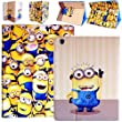 Despicable Me Minion Premium Leather Wallet Stand Holder Folio Folding Case Cover For Apple iPad 2,3 & 4 With Free Stylus Pen (Multiple Eyes Minion Case)