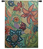 """Fine Art Tapestries """"Garden Party Mosaic"""" Wall Tapestry"""