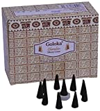 Goloka Chandan Dhoop Cones Pack of 12 (10 cones each pack)