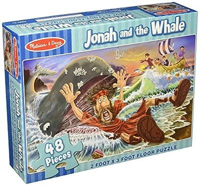 Melissa & Doug Jonah and the Whale Jumbo Jigsaw Floor Puzzle (48 pcs, 2 x 3 feet)