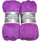 Vardhman Acrylic And Nylon Knitting Wool, Pack Of 2 (Light Purple)