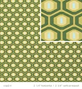 Amy Butler Midwest Modern II Honeycomb Fabric - Forest