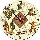 Dolce Mia Western Cowboy Wall Clock - Sew Vintage