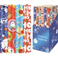 4 Pack of Christmas Wrapping Paper - Kids Snowman / Reindeer / Christmas Tree [1908]