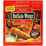 Buffalo Wings New York Style Seasoning Mix for Chicken, Hot, 1.75-Ounce Packets (Pack of 12)